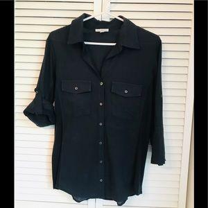James Perse Standard - 3/4 shirt -Navy